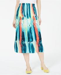 Petite Knife Pleat Midi Skirt, Created for Macy's