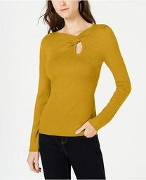 INC Twist-Front Long-Sleeve Sweater, Created for Macy's