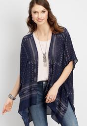 bandana print kimono