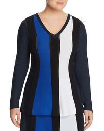 Galleria Color Block Rib Sweater