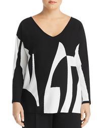 Artista Printed Oversized Sweater
