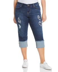 Wide-Cuff Cropped Jeans in Chapman Wash