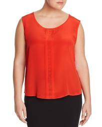 Begonia Pleated Silk Blouse