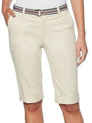 Petite Belted Chino Shorts