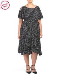 Plus Flutter Sleeve Dress