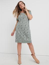Woodblock Print T-Shirt Dress