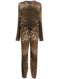 leopard print cashmere jumpsuit
