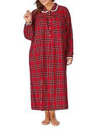 Plus Plaid Flannel Nightgown