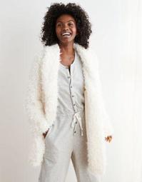 Aerie Fuzzy Sherpa Coat-igan
