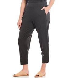 Plus Size Stretch Jersey Slouch Pull-On Pant
