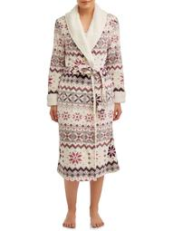 Secret Treasures Women's and Women's Plus Superminky Robe