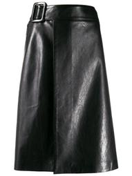 A-line wrapped skirt