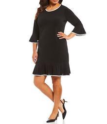 Plus Size Matte Jersey Flounce Dress