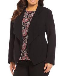 Plus Size Drape Front Jacket