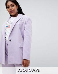 ASOS DESIGN Curve cord tailored blazer
