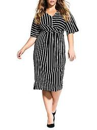 Striped Knotted Dress