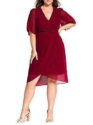 Twist Love Knee-Length A-Line Dress