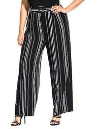 Striped Palazoo Pants