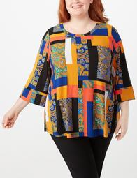 JONES STUDIO® Plus Size Patchwork Tunic