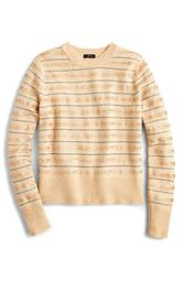 Sequin Stripe Supersoft Yarn Sweater
