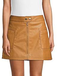 Vegan Leather Mini Skirt