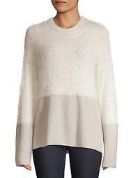 Plush Two-Tone Sweater