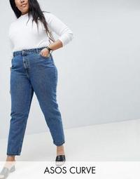 ASOS DESIGN Curve Recycled Ritson rigid mom jeans in nova rich vintage blue wash