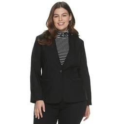 Plus Size EVRI Button Front Blazer