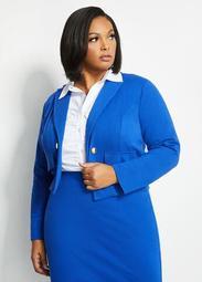 Blue Button Blazer