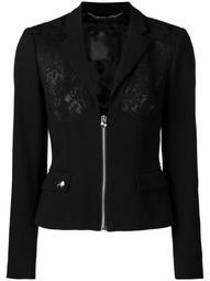 lace panel jacket