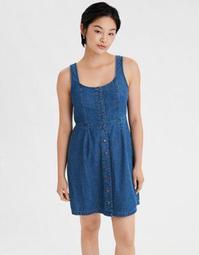AE Denim Button Front Slip Dress