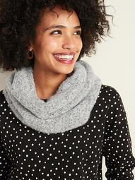 Bouclé-Knit Sherpa-Lined Infinity Scarf for Women
