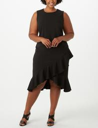 Iconic American Designer Plus Size Ruffle-Hem Dress