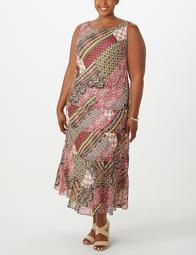 JONES STUDIO® Plus Size Patchwork Tiered Maxi Dress