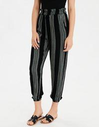 AE High-Waisted Striped Paperbag Jogger