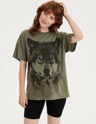 AE Oversized Animal Print Graphic T-Shirt