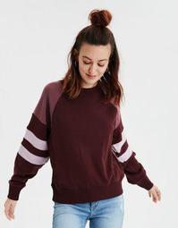 AE Fleece Color Block Pullover Sweatshirt