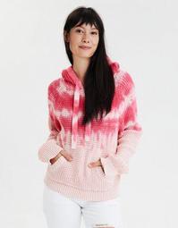 AE Tie Dye Waffle Hooded Sweater