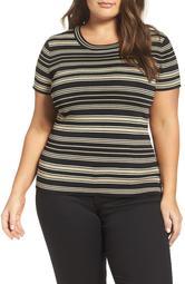 Rachel Roy Stripe Sweater Knit Tee