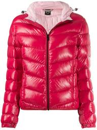 lacquered-effect winter down jacket