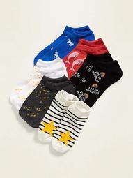 Printed Ankle Socks 6-Pack for Women