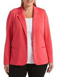 Plus Notch Lapel Blazer