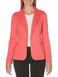 Petite Long Sleeve Knit Blazer