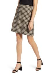 Check Print Cotton Skirt