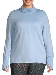 Athletic Works Women's Plus Size Active Fleece Lined Pullover
