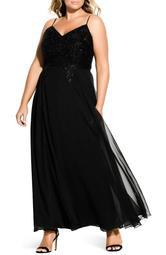 Divine Sequin Bodice Gown