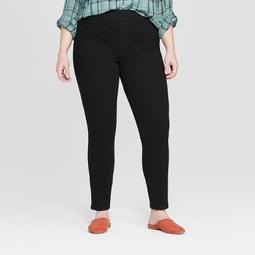 Women's Plus Size Pull On Jeggings - Universal Thread™ Black
