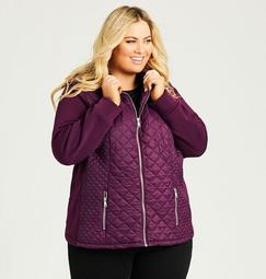 Quilted Zipper Jacket