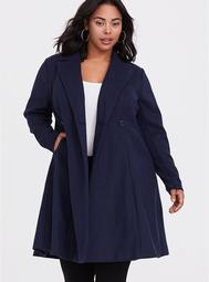 Outlander Navy Double-Breasted Swing Coat