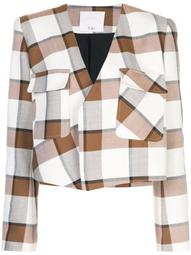 Dylan plaid cropped jacket